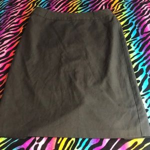 Women's Black Business Casual Work Lined Skirt 10